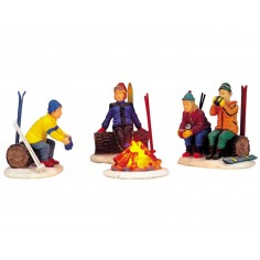 Skiers' Camp Fire Set Of 4